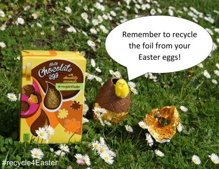 Looking for a way to #recycle more this #Easter? We've cracked it! Recycle the foil wrapping from your Easter eggs #recycle4Easter