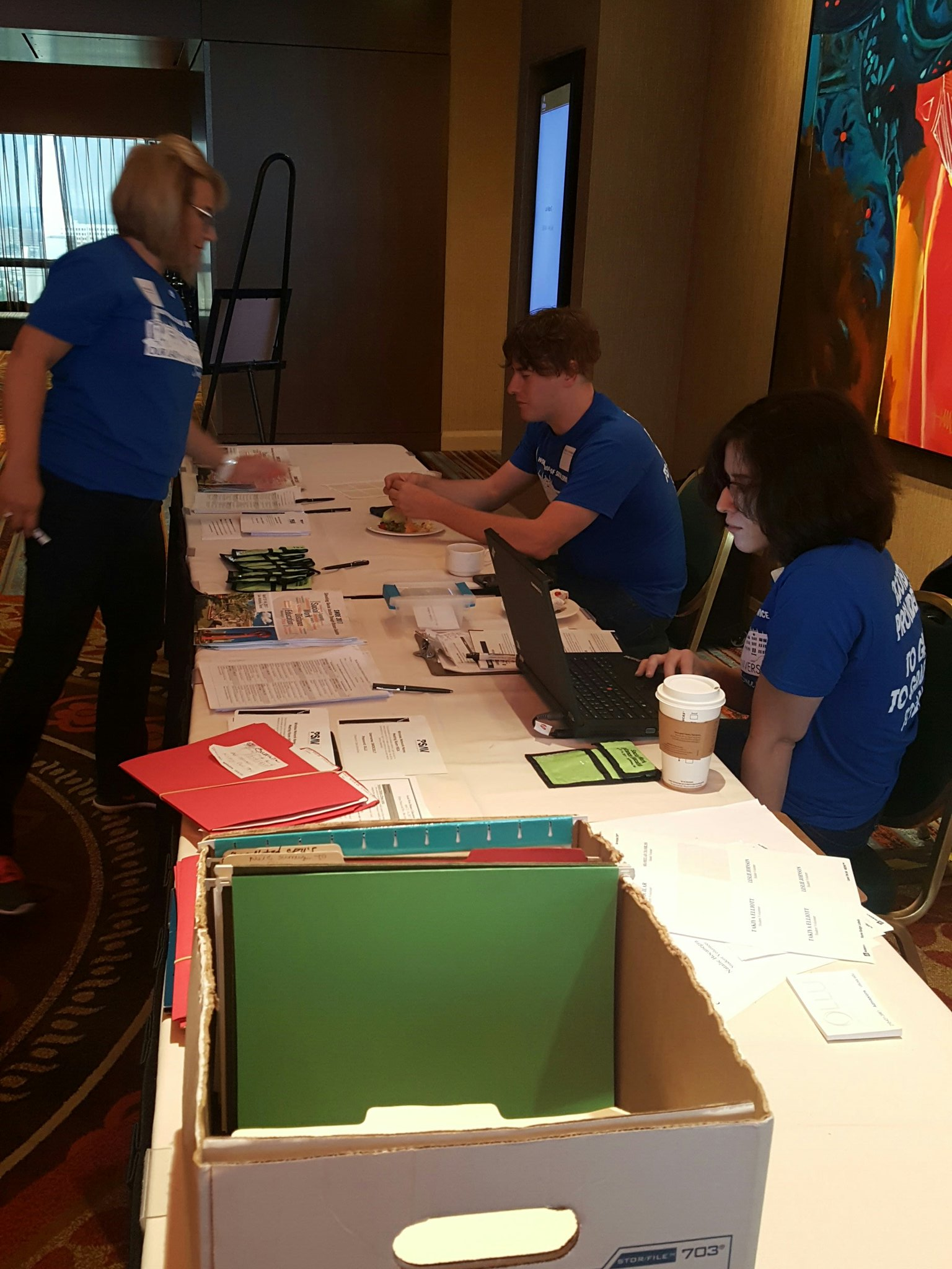 OLLU working hard this final morning #SWDE2017 https://t.co/wV9tog3vDd