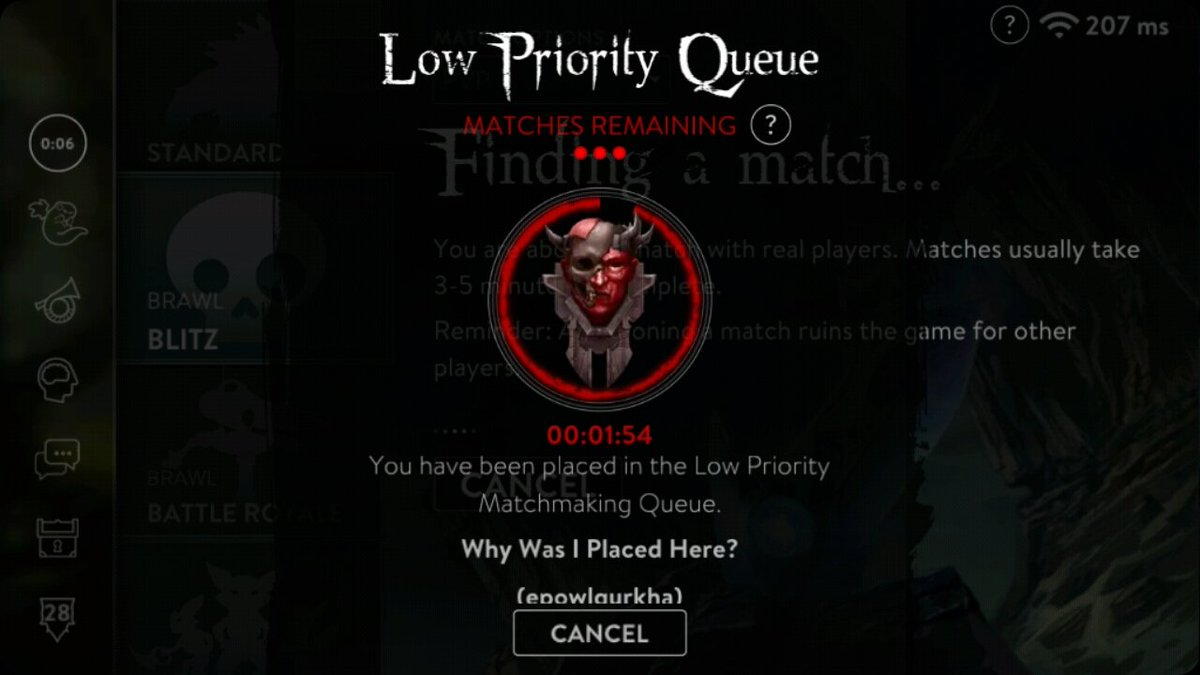 how to remove low priority matchmaking