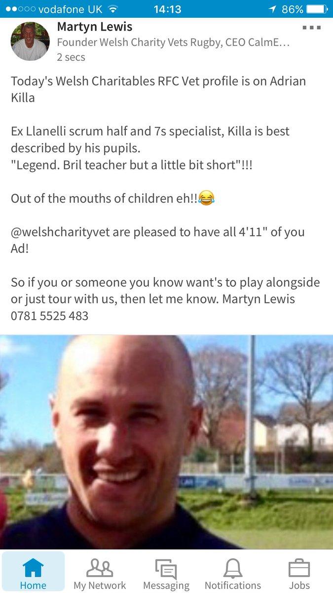 Today&#39;s #Profile @AdrianKilla @LlanelliRFC #scrumhalf @PrincipalityPRM @WRU_Scarlets Join Killa @SevensAmsterdam #charity #Rugby7s #vets10 <br>http://pic.twitter.com/M6Nxm7Lr5m