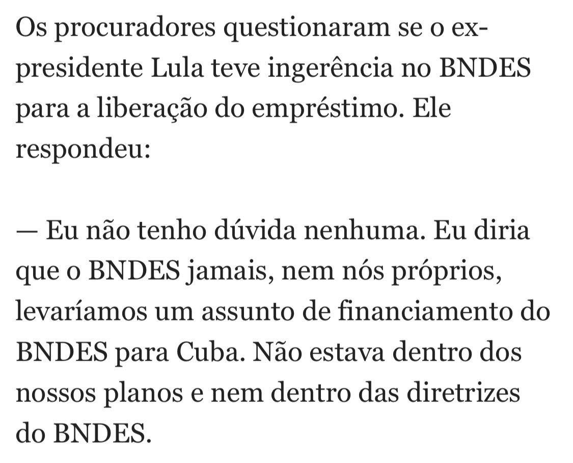 Lula mandou BNDES aprovar financiamento de Porto de Mariel em Cuba, diz Emílio Odebrecht. Está no Globo. É fruto do Foro de São Paulo.