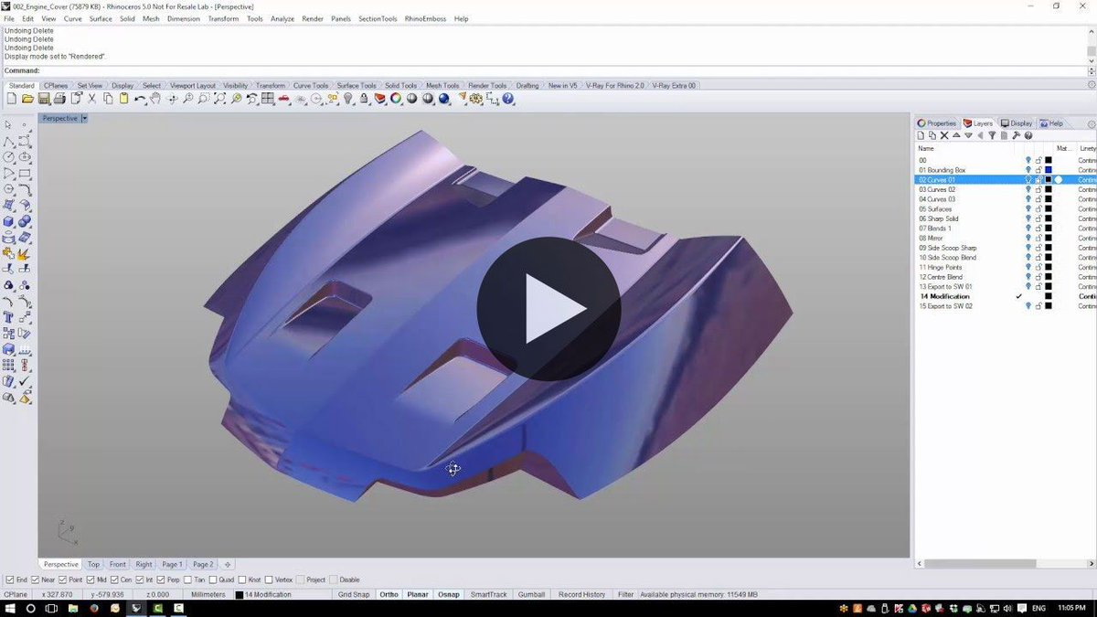 Car Body Design On Twitter Check The Engine Cover Rhino3d Tutorials By Simply Rhino Https T Co D9vzqatyxv More Free Rhino Tutorials At Https T Co Gw951saqie Https T Co Lvsaa7nss4