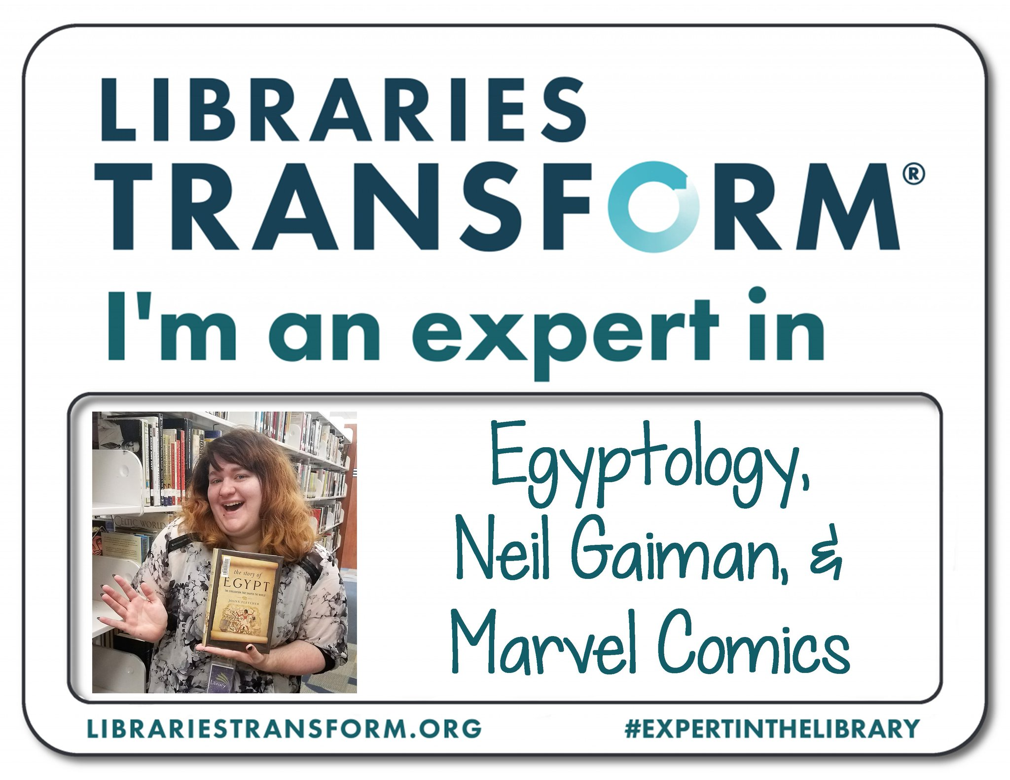 Celebrate #NationalLibraryWeek with us! Meet Olivia, an #ExpertInTheLibrary at KPL. https://t.co/FSBvc5NGrU
