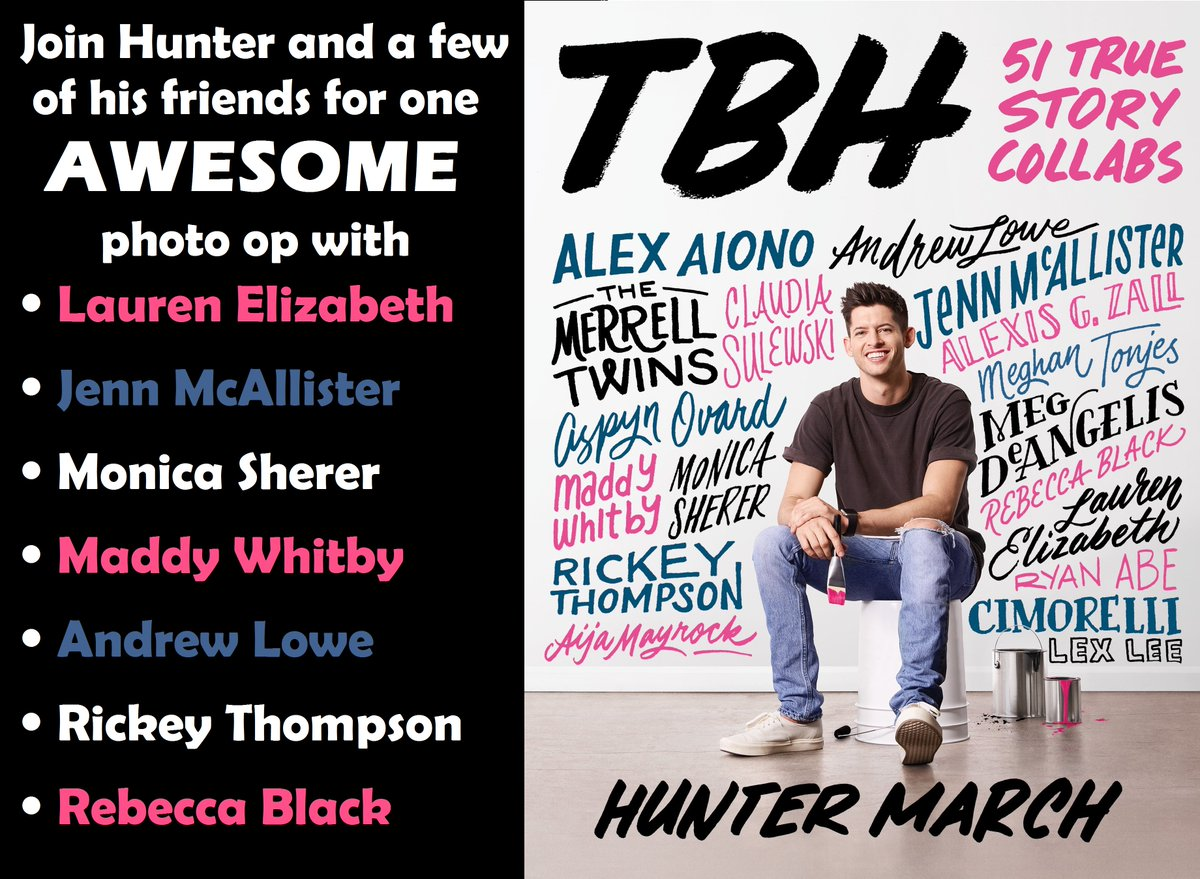 Join Hunter March and a few of his friends 4/25 at 7pm for one AWESOME photo op!