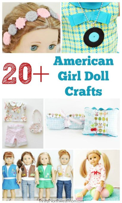 20+ American Girl Doll Crafts for your Dolls!
