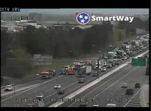 West: STEER CLEAR: I-24 West shut down in Rutherford County