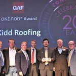 Kidd Roofing is proud to be one of four roofing contractors in the nation to be awarded GAF's prestigious 2016 One Roof Award. @gafroofing