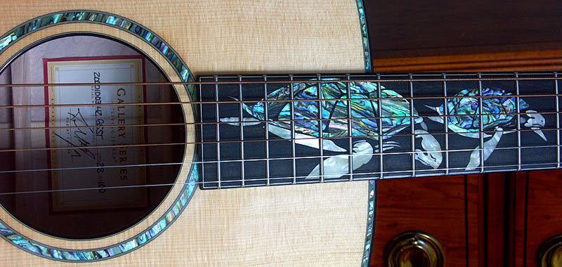 Amazing turtle inlay #luthier <br>http://pic.twitter.com/nm4pQSYcZE