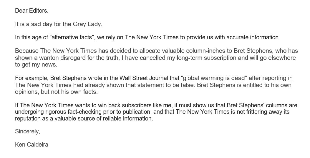 httpsthinkprogressorgnew york times hires extreme climate denier after hyping itself as antidote to fake news 441826c4071d