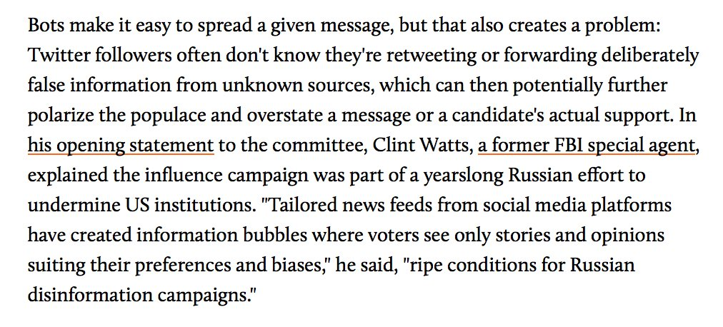 This article hits on some key points abt how & why propaganda works to influence public opinion, & how bots are amplifying these effects. 1/ https://t.co/oTRsYusOj4