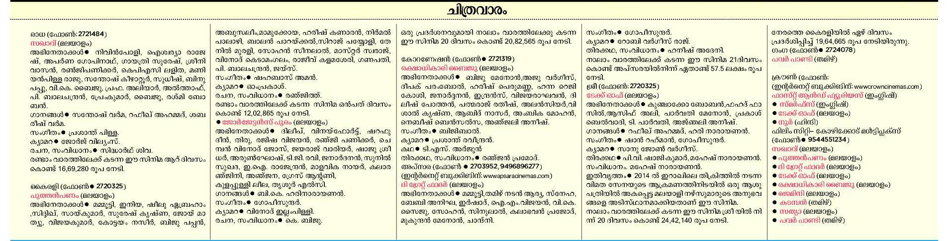 Malayalam new film box office result : Regarder le film