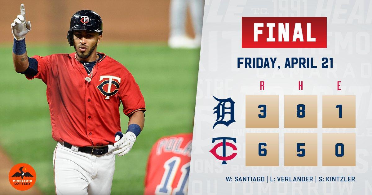 RECAP: #TwinsWin with a 6-run 6th, @EddieRosario09 homer. https://t.co...