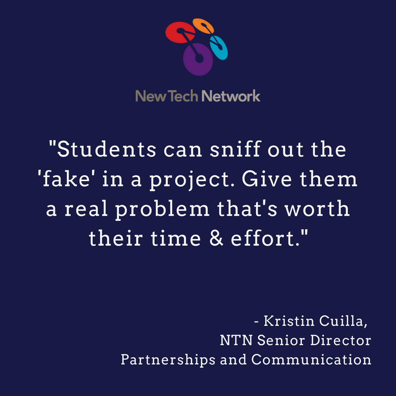 Authenticity is key! - a friendly reminder from @kriscuilla #pbl #pblchat #k21ed #NewTechNetwork https://t.co/gLJcmEUxgx