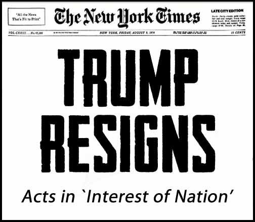 Image result for trump resigns headline
