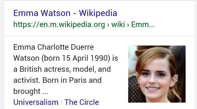 Happy Birthday also to Emma Watson!