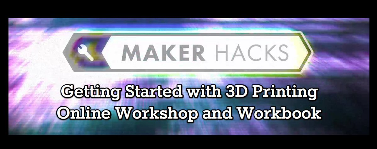Pre-order the #3Dprinting workshop + workbook and choose your own fair price! https://t.co/Ugbor6jVf0 https://t.co/Q5bukpLa0T