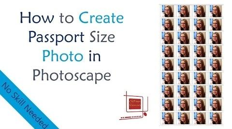 How to create Passport Size Photo in Photoscape