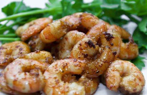 Жареные креветки с чесноком рецепт