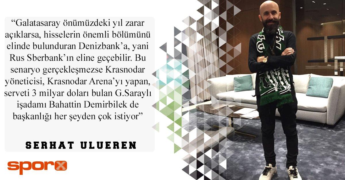 Sporx On Twitter Serhat Ulueren Krasnodar Arena Yi Yapan Serveti 3 Milyar Dolari Bulan G Sarayli Isadami Bahattin Demirbilek Baskanligi Cok Istiyor Https T Co 18lt8hfcil