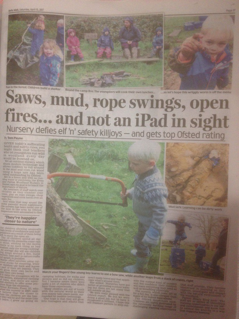 A piece in the @DailyMailUK about outdoor learning - just in time for @OutdoorClassDay
