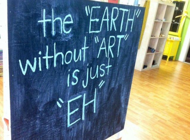 "The ""earth"" without ""ART"" is just ""eh"" Feliz #DiaMundialDelArte <br>http://pic.twitter.com/RhHmeYqtGP"