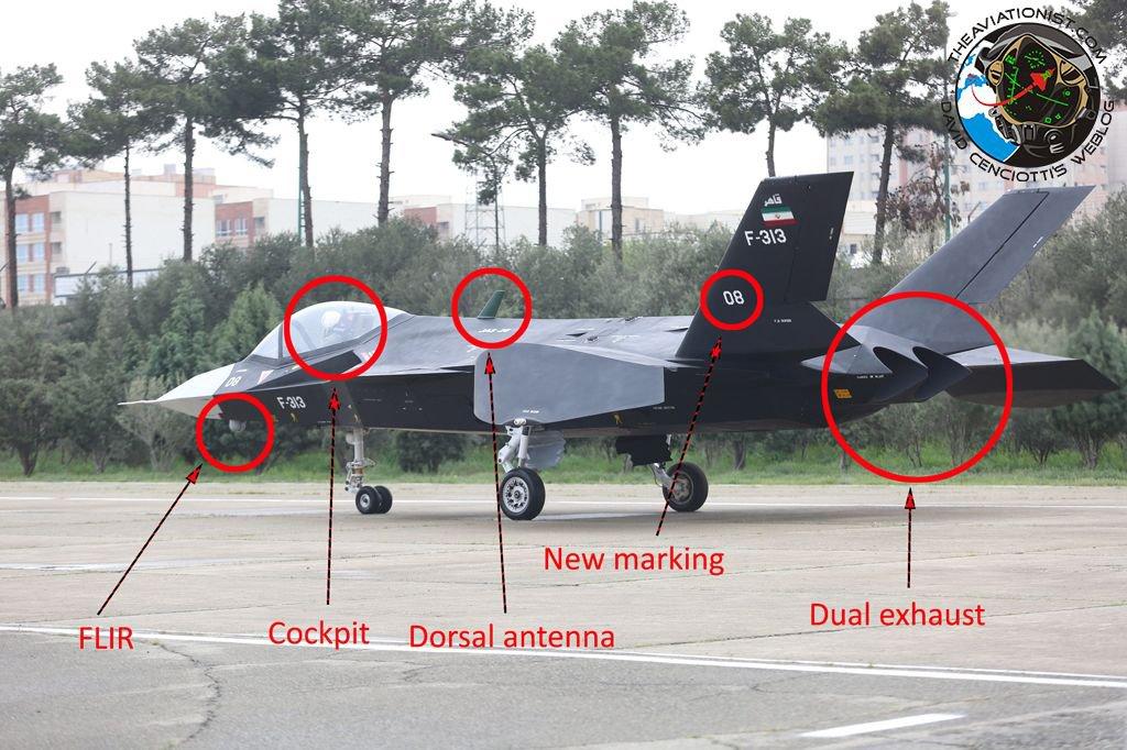 ايران تجري تجارب على الطائره  Qaher-313 تحضيرا لطيرانها التجريبي الاول  C9cx7KLW0AAAvO4