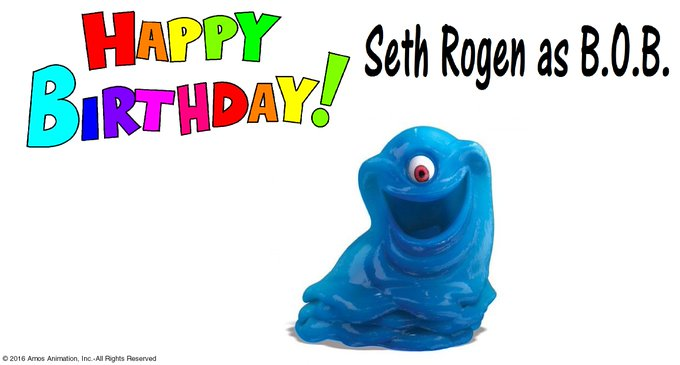 Happy 35th Birthday to Seth Rogen who played B.O.B. from Monsters vs Aliens!