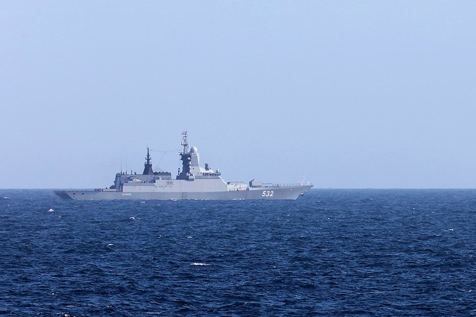 Russian warships escorted through the English Channel tonight- for the third time in six months