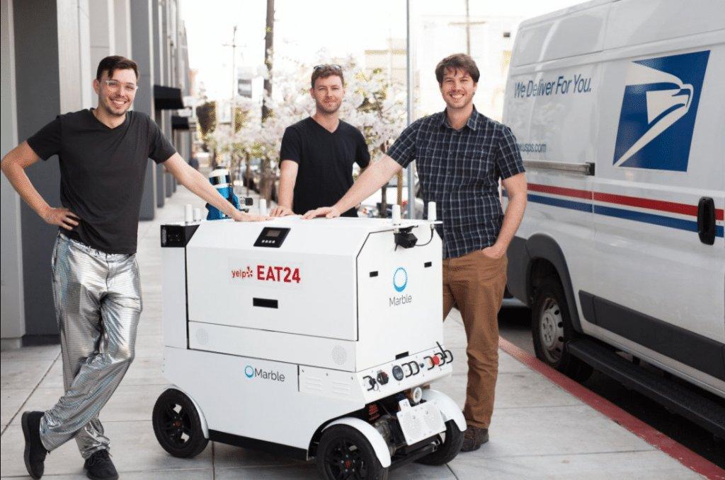 Cтартап по доставке еды роботами начал работу в Сан-Франциско