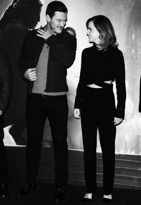 Happy birthday to our beauty emma watson and the most handsome gaston luke evans.