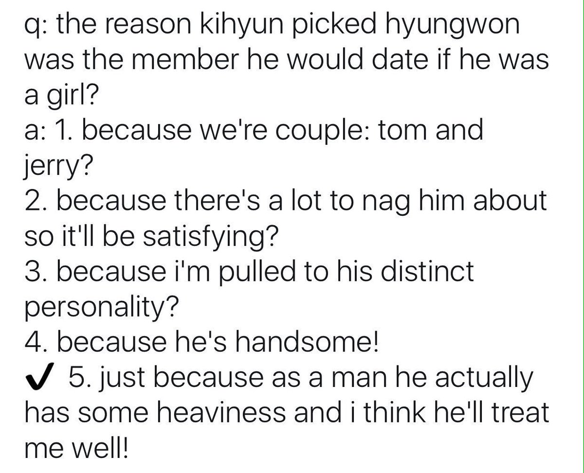 Dating hyungwon would include