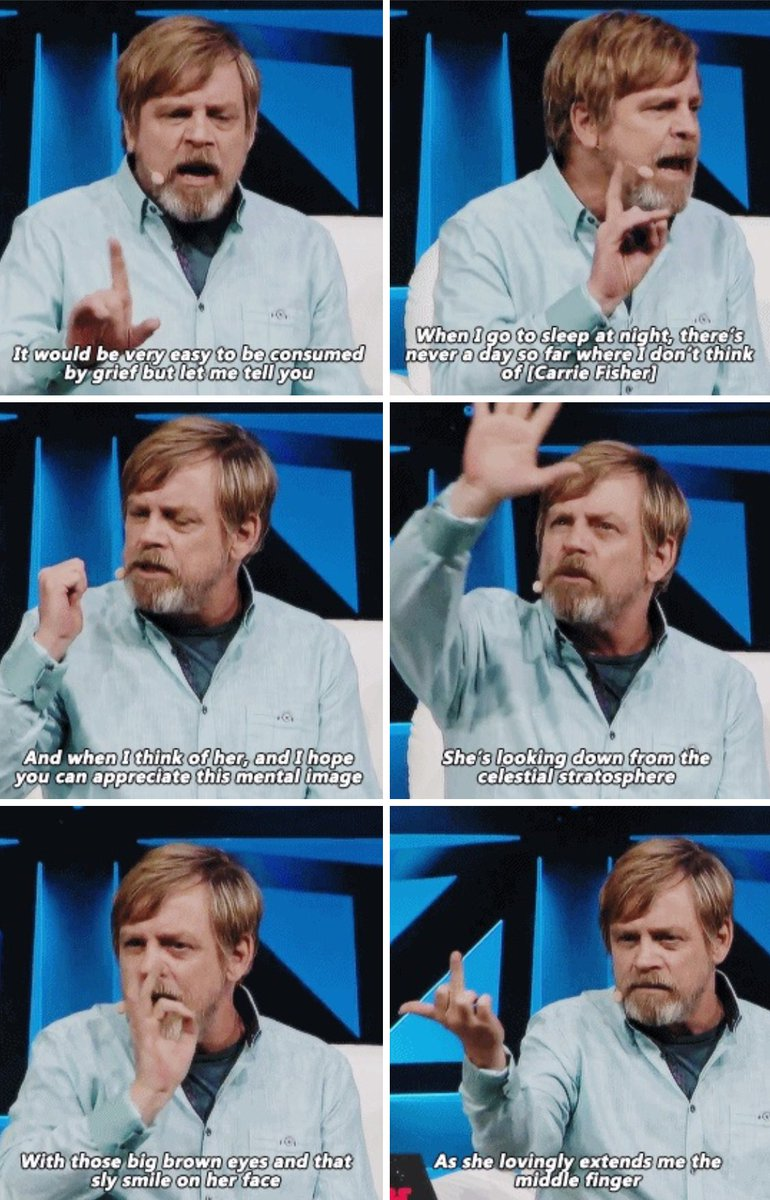 Mark Hamill talking about Carrie Fisher is the best thing youll see today. https://t.co/bZewILaZvn