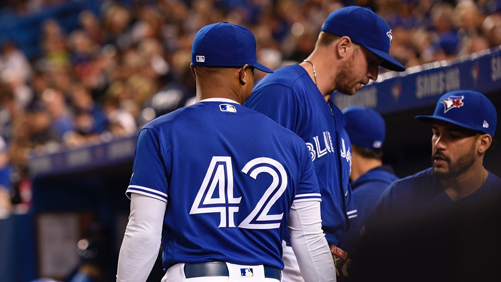 Today, we are all number 42. #JackieRobinsonDay #ThankYouJackie <br>http://pic.twitter.com/XTA4PPiO6Q
