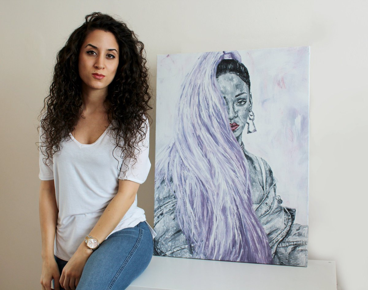 Most current piece...more art on the way! #FatmArt #Rihanna https://t.co/raP14qrx73