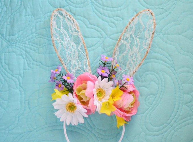 DIY Floral Bunny Headband