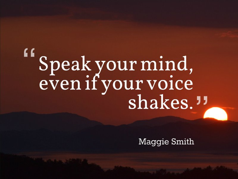 Tim Fargo On Twitter Speak Your Mind Even If Your Voice Shakes