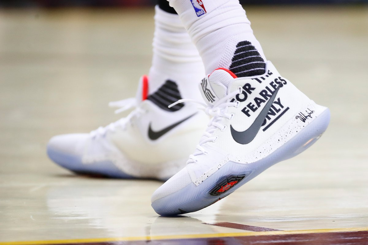 BR Kicks on Twitter FOR THE FEARLESS ONLY KyrieIrving sent a message in the Nike Kyrie 3 vs Indiana DefendTheLand