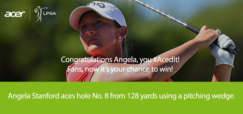 .@Angela_Stanford #AcedIt @LPGALOTTE!  Fans, go to @AcerAmerica for your chance to win! T&C: https://t.co/l8EY6rOMVs https://t.co/ICqLQKhEfi