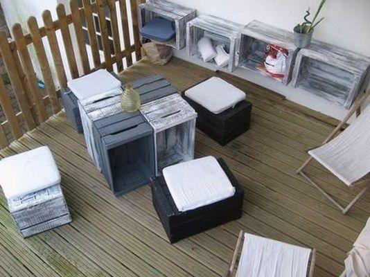 Muebles hechos con huacales y mucha creatividad for Mueble realizado con palet de madera