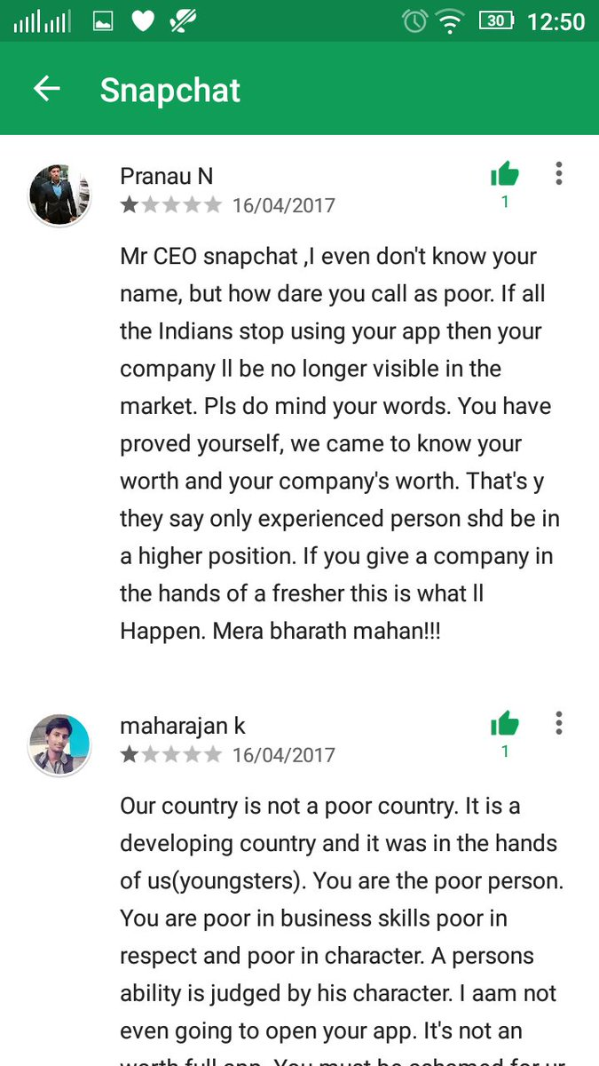 Gita S Kapoor On Twitter Dear Snapchat Evanspiegel These - Poor country name