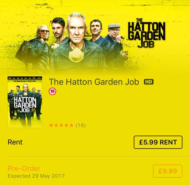 Hatton Garden Job On Twitter 1 In The Thriller ITunesMovies