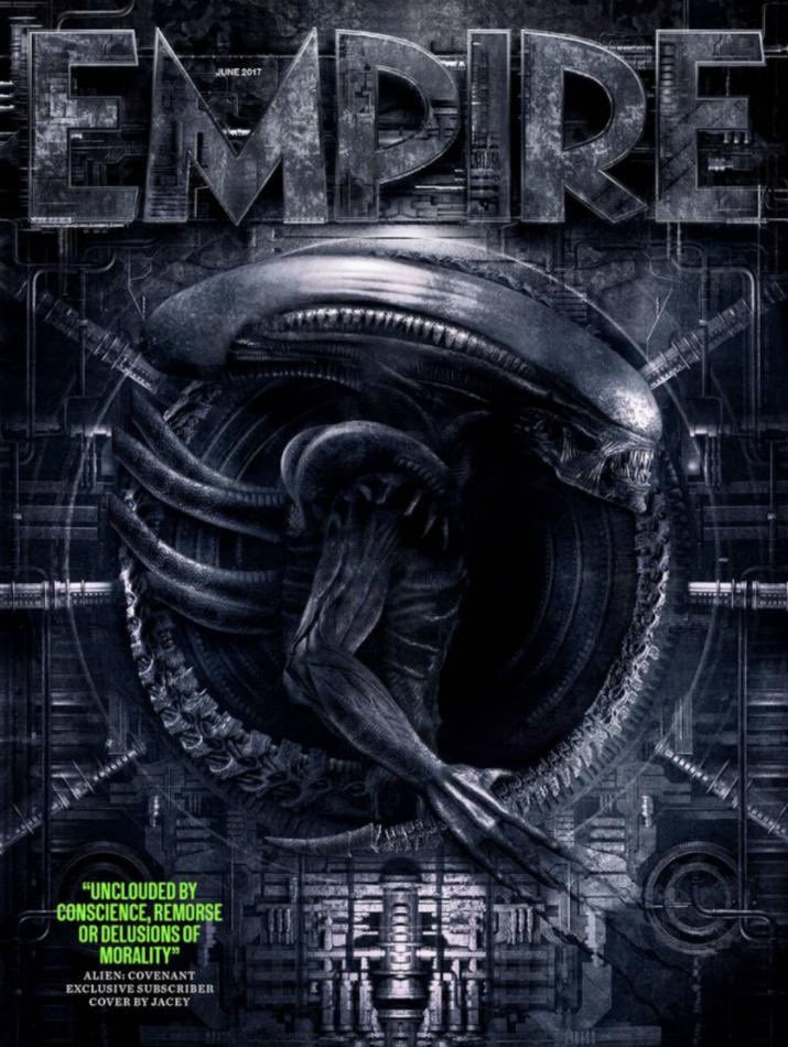 New exclusive cover for #Empire  magazine subscribers. #alien #aliencovenant #RidleyScott #neomorph #xenomorph<br>http://pic.twitter.com/gsw6tW43P7
