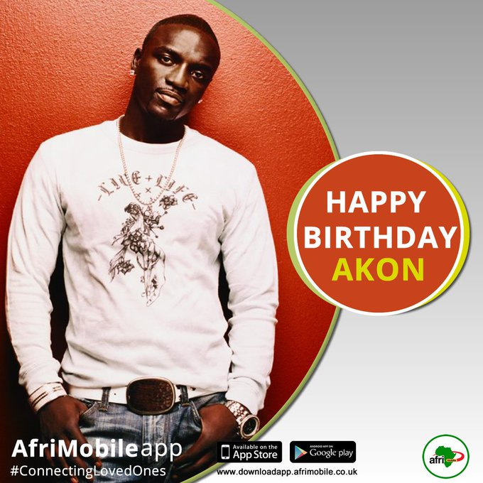 Happy Birthday to Senegalese-American singer Akon