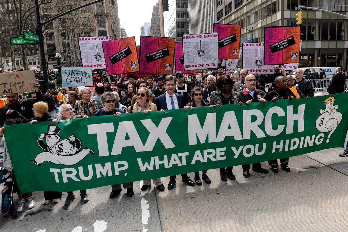 Pres. Trump Calls for investigation into TaxMarch protesters, tweeting, The election is over!
