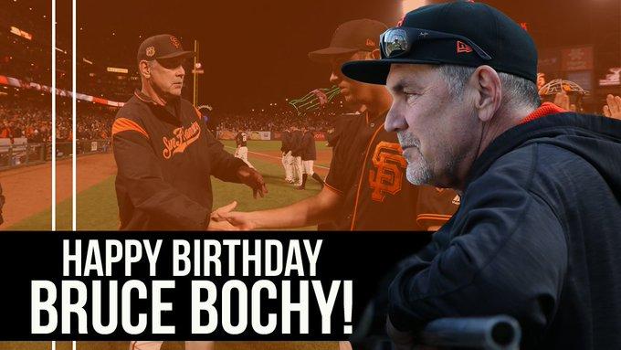 SFGiants: Happy Birthday to our Skipper, Bruce Bochy!