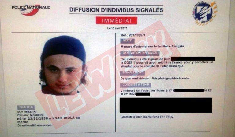 🇫🇷 #Terrorisme Mouhcine Mbarki, suspect recherché par la DGSI. Il pourrait être en France et frapper pour l'EI. https://t.co/knmACXTZFa