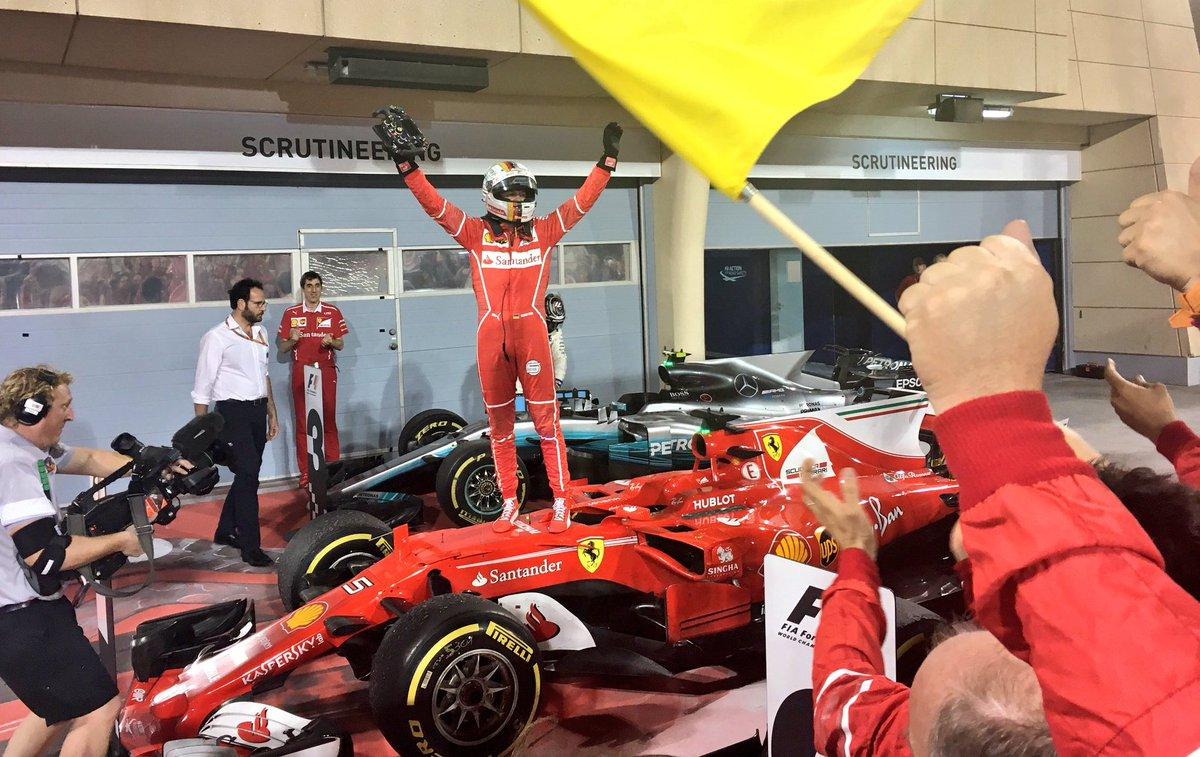 Trionfo Ferrari nel GP Bahrain: vittoria Vettel davanti a Hamilton-Bottas