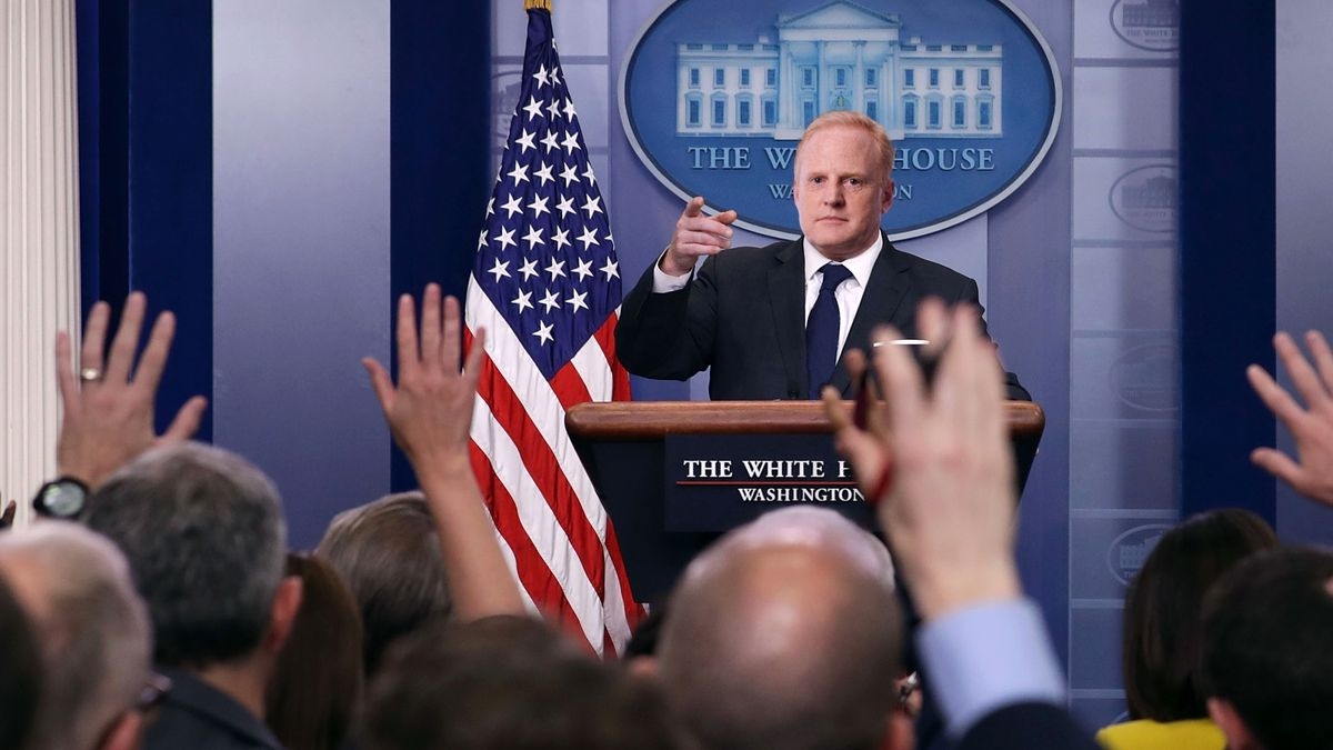 Sean Spicer Given Own Press Secretary To Answer Media's Questions About His Controversial Statements trib.al/VrquOus