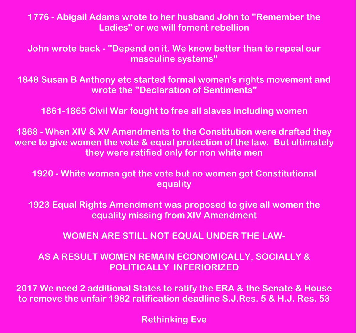kamala lopez kamalalopez twitter saundraceo need you on board to get era ratified it is legal to discriminate against women eraaction equalmeansequalpic twitter com as52qkgqvq