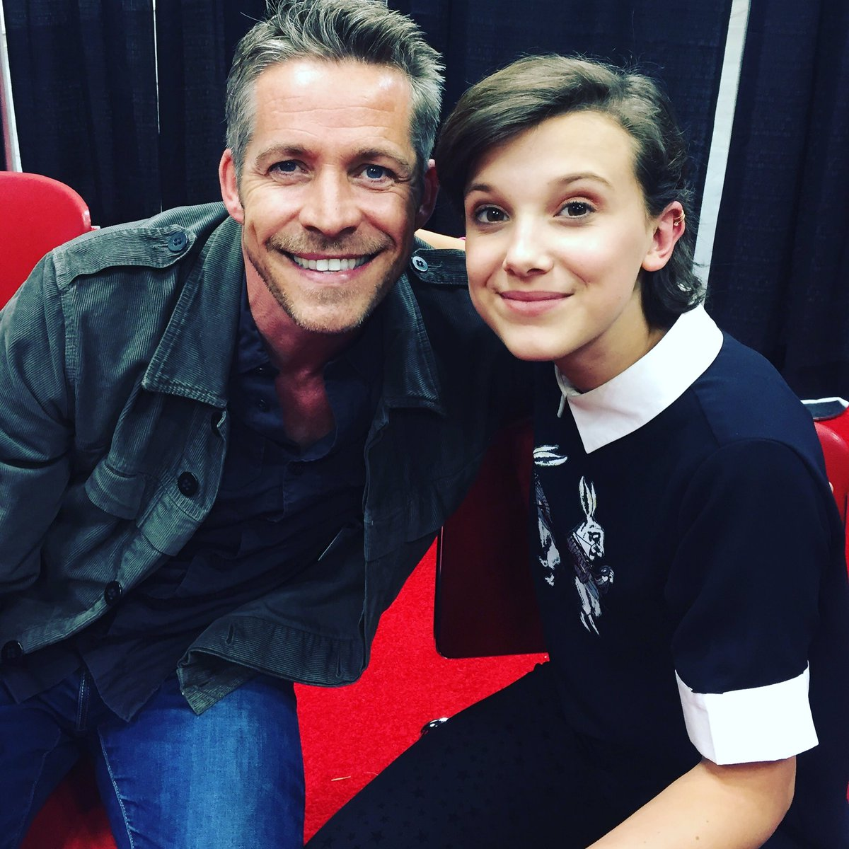 Sean Maguire On Twitter Loved Meeting Millie Bobby Brown Today